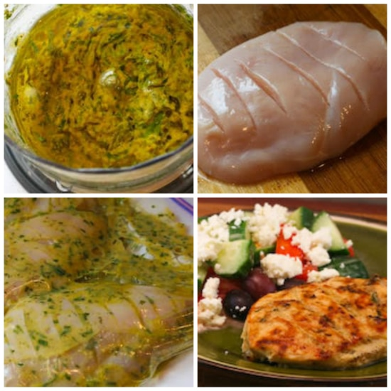 collage for Grilled Chicken with Tarragon-Mustard Marinade