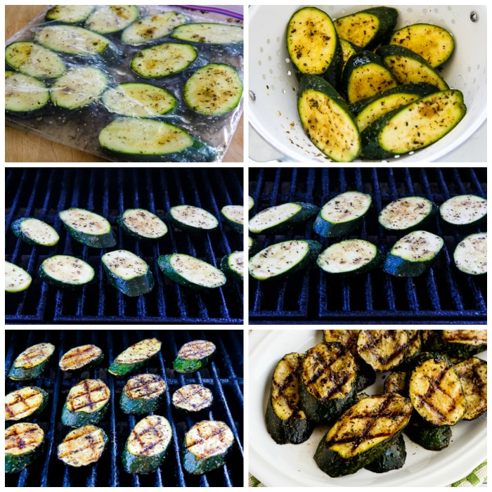 How to Grill Zucchini process shots collage