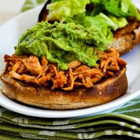 Slow Cooker Sriracha-Pineapple Barbecued Chicken Sandwiches