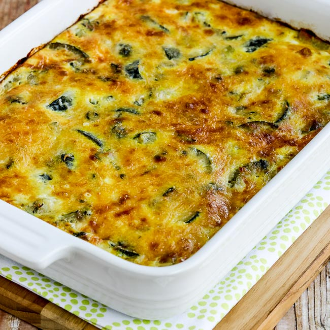 Thumbnail photo for Cheesy Low-Carb Zucchini and Basil Strata