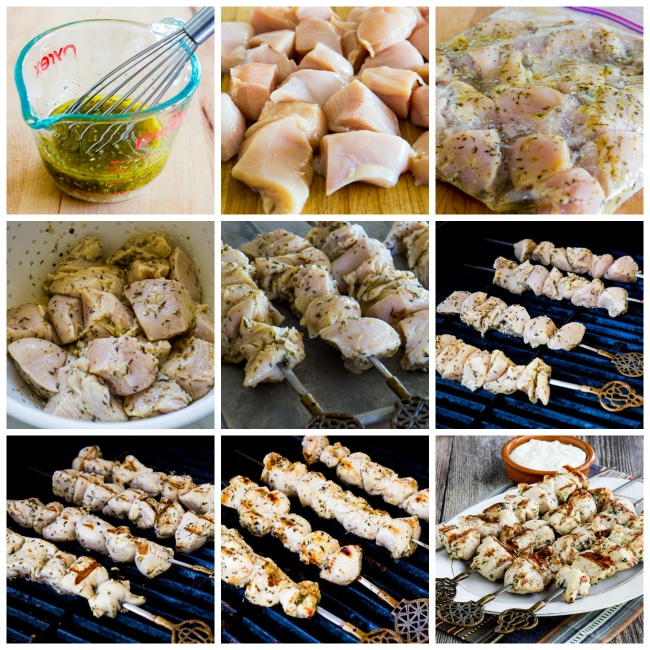 Steps for making Chicken Souvlaki