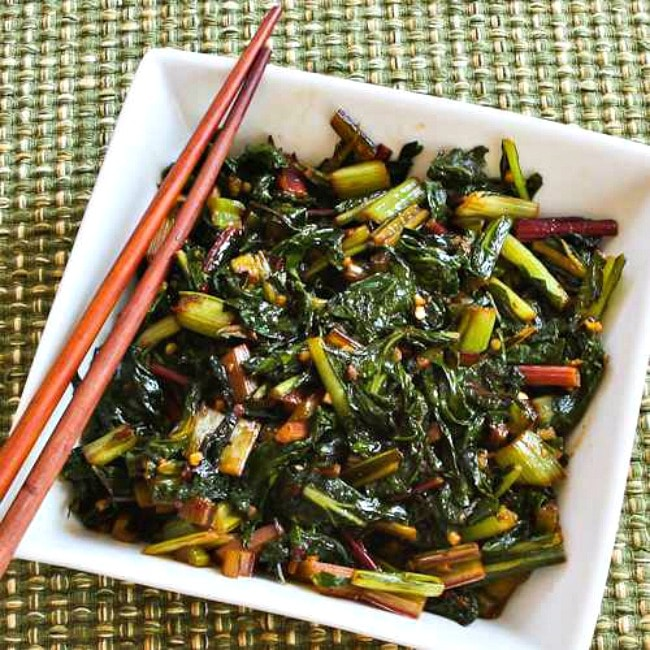 Spicy Stir-Fried Swiss Chard square image