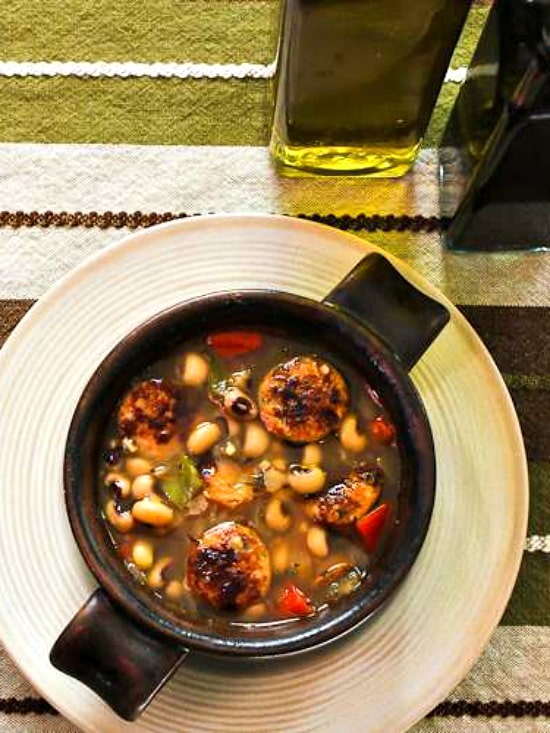 Lucky Black-Eyed Pea Soup in bowl