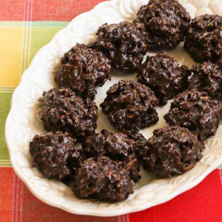 Low-Sugar and Flourless Chocolate Coconut Drops with Almonds