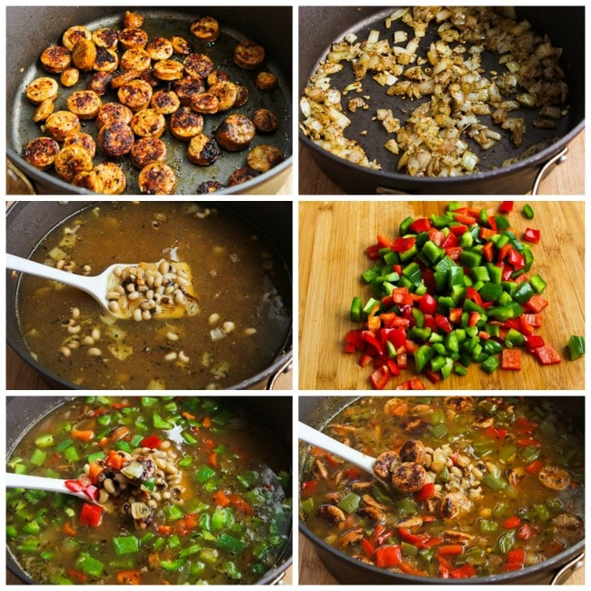 Lucky Black-Eyed Pea Soup process shots collage