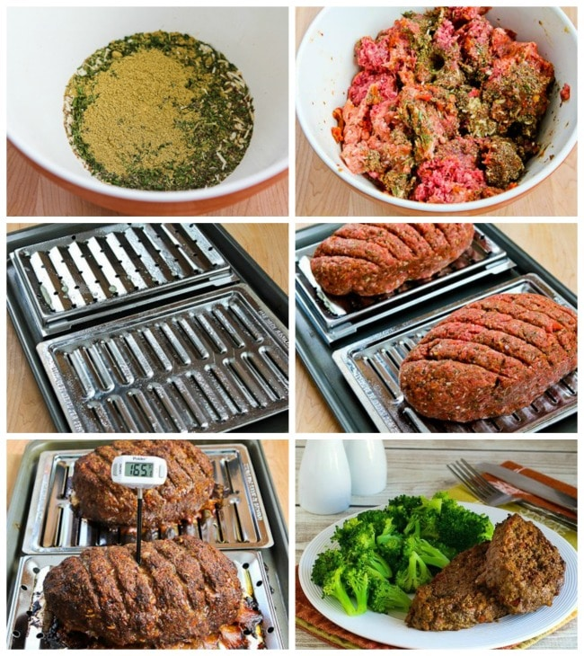 Low-Carb Grain-Free Meatloaf with Tomatoes, Fennel and Flax Seeds process shots