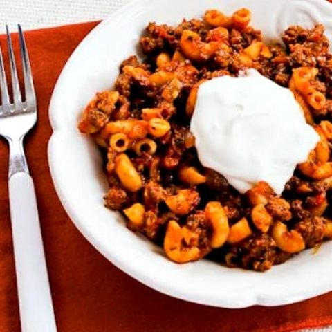 Better-than-Mom's Stovetop Goulash with Macaroni, Tomatoes, and Ground Beef