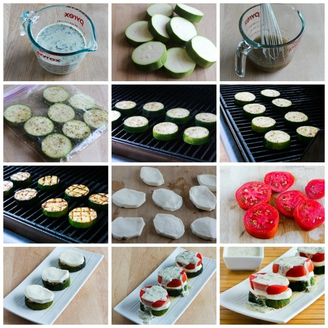 collage for Grilled Zucchini Caprese Stacks