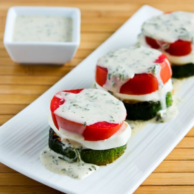 Thumbnail photo Grilled Zucchini Caprese Stacks