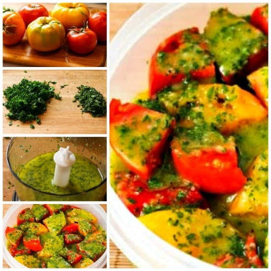 Marinated Tomato Salad with Parsley and Marjoram Dressing from KalynsKitchen.com.