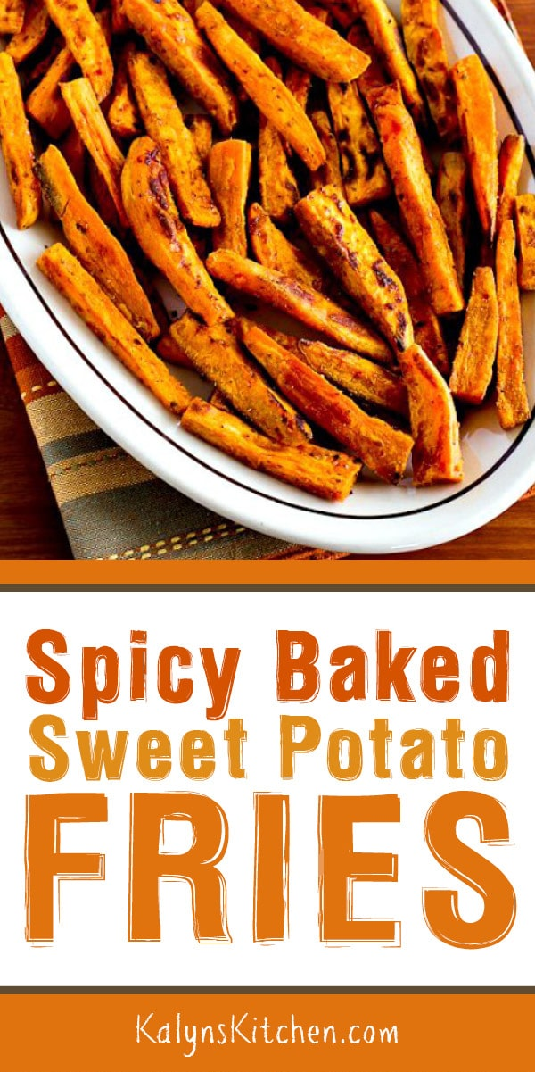 Pinterest image of Spicy Baked Sweet Potato Fries