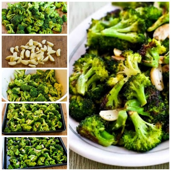 Roasted Broccoli with Garlic found on KalynsKitchen.com