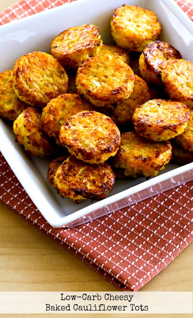 Low-Carb Cheesy Baked Cauliflower Tots title photo