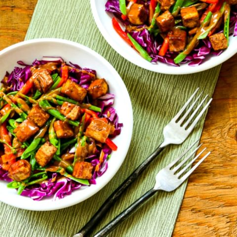 Cabbage Bowl with Tofu and Peanut Sauce