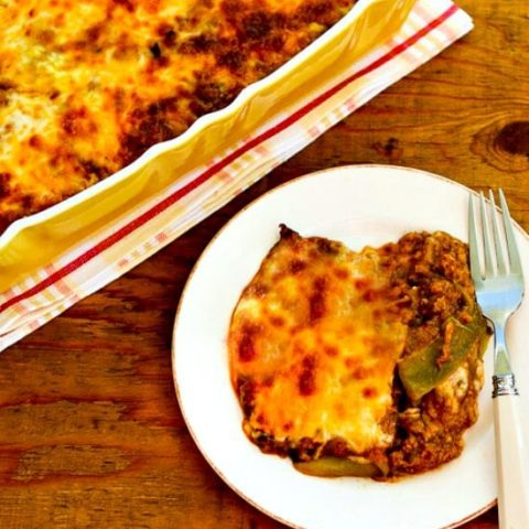Low-Carb (and Gluten-Free) Enchilada Casserole with Ground Turkey and Chiles