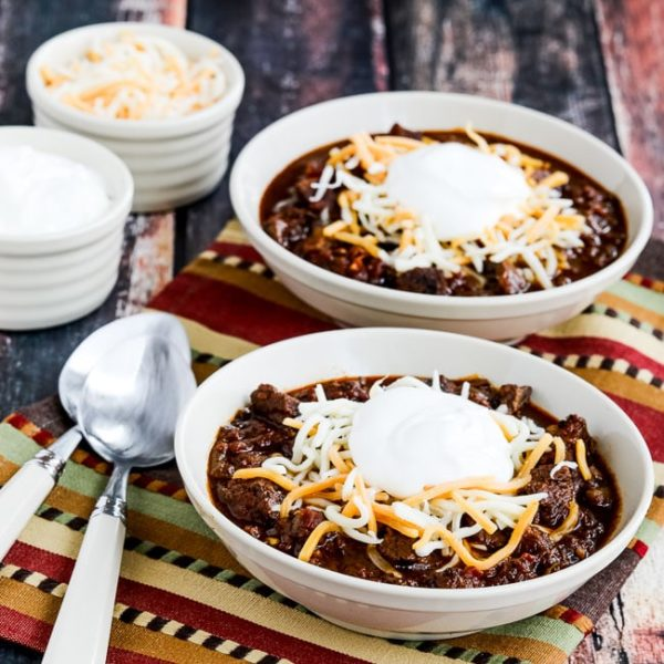 Instant Pot Low-Carb All-Beef Ancho and Anaheim Chili found on KalynsKitchen.com