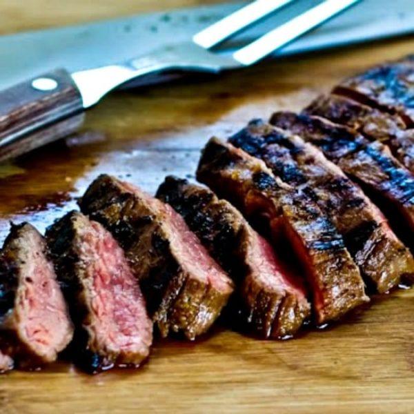 Grilled Cuban Flank Steak found on KalynsKitchen.com