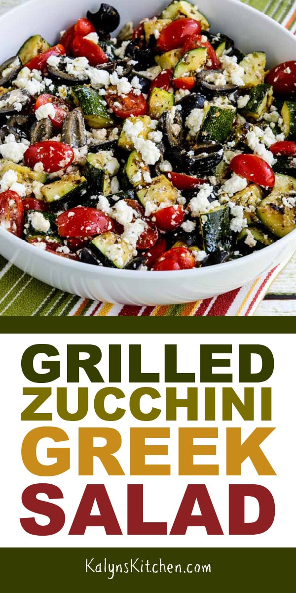 Pinterest image for Thumbnail image for Grilled Zucchini Greek Salad
