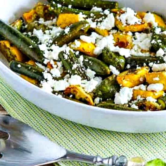 Baby Summer Squash with Feta and Thyme square thumbnail photo of finished dish