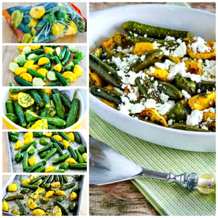 Baby Summer Squash with Feta and Thyme process shots collage