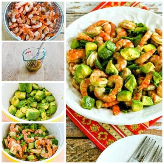 Easy Paleo Shrimp and Avocado Salad found on KalynsKitchen.com