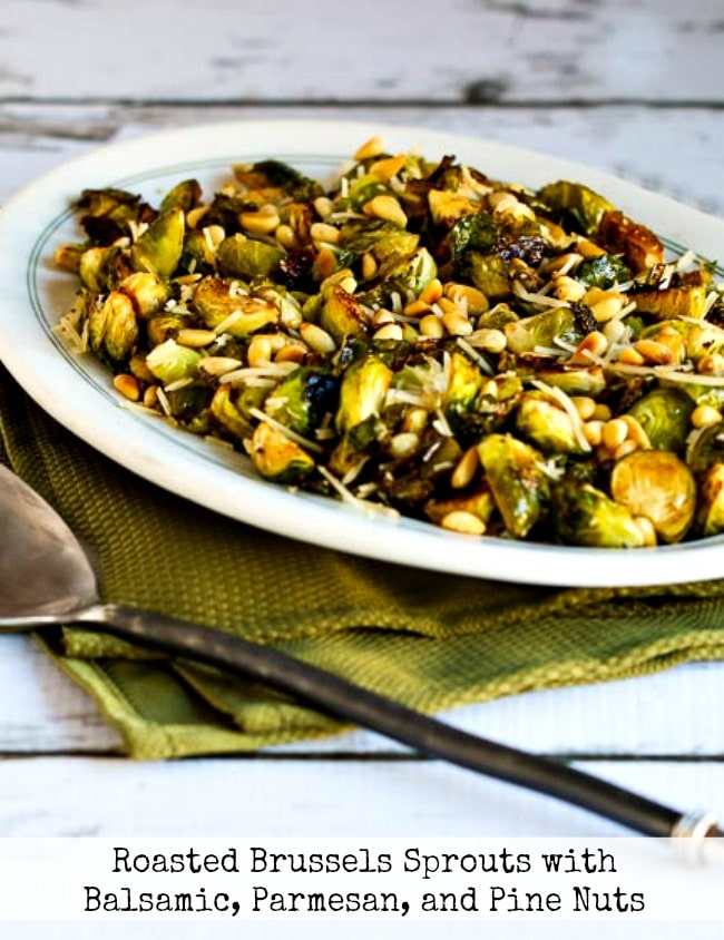 Roasted Brussels Sprouts with Balsamic, Parmesan, and Pine Nuts title photo