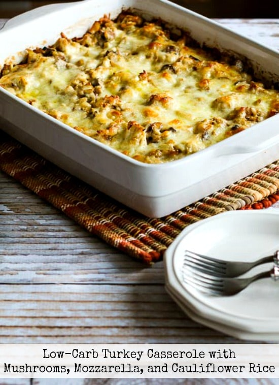 Low Carb Turkey Casserole With Mushrooms Mozzarella And