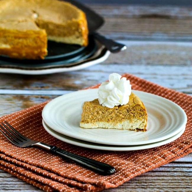 Low-Sugar or Sugar-Free Layered Pumpkin Cheesecake thumbnail photo