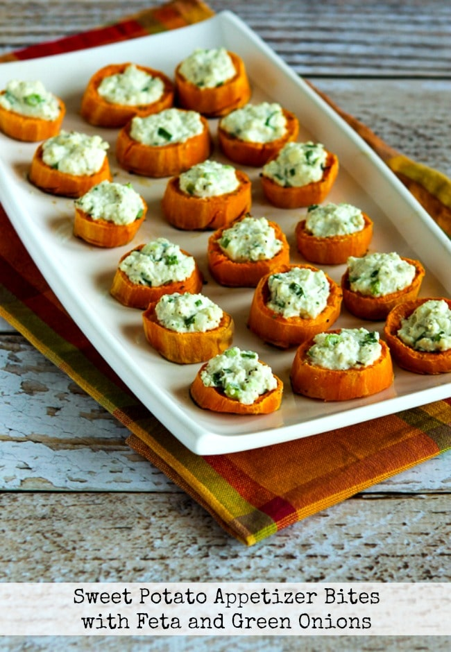 Sweet Potato Appetizer Bites with Feta and Green Onion title image