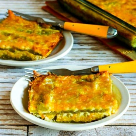 Thumbnail photo for Low-Carb Vegetarian Chile Rellenos Bake