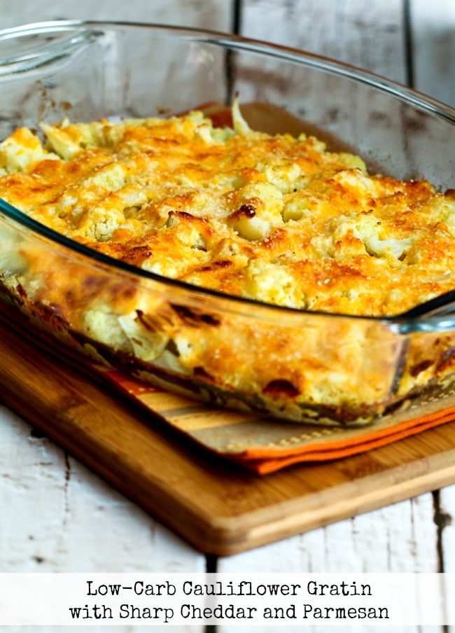 Low-Carb Cauliflower Gratin with Sharp Cheddar and Parmesan title photo