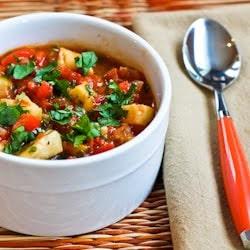 30 Minute Spicy Red Fish Stew (Low-Carb, Gluten-Free, Paleo) found on KalynsKitchen.com