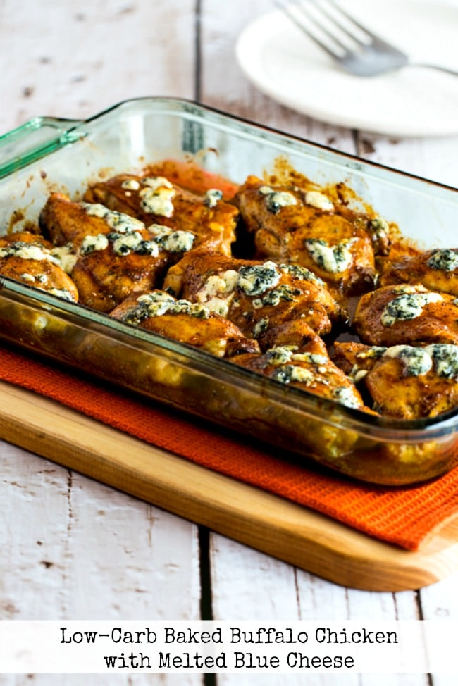 Low-Carb Baked Buffalo Chicken with Melted Blue Cheese title photo