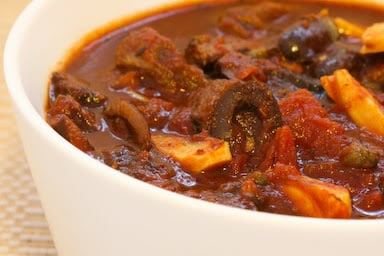 Beef Stew with Olives and Garlic