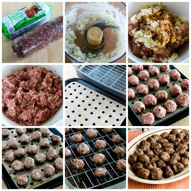 Baked Swedish Meatballs process shots collage
