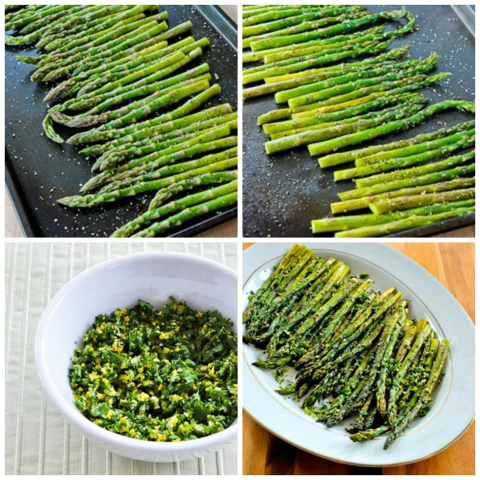 Roasted Asparagus with Gremolata process shots collage