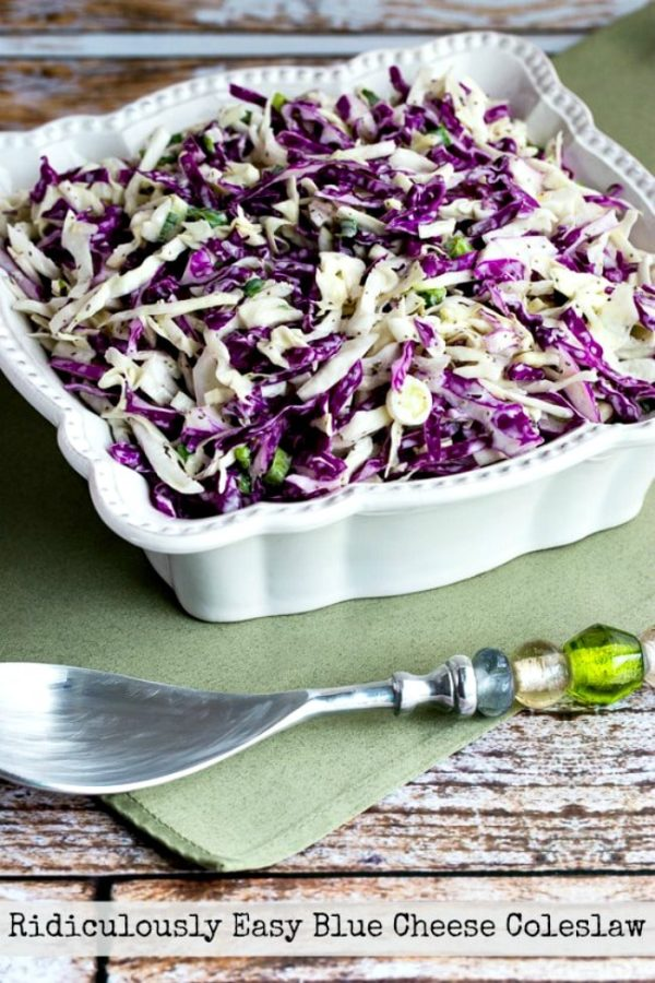 Ridiculously Easy Blue Cheese Coleslaw found on KalynsKitchen.com