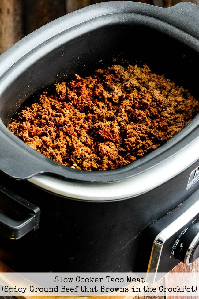 Slow Cooker Taco Meat title photo