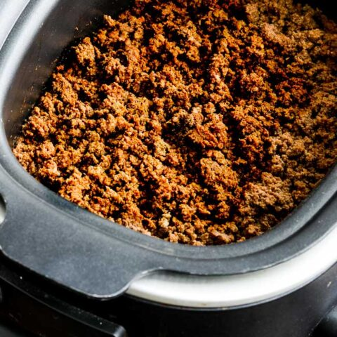 Slow Cooker Browns-in-the-Crockpot Spicy Ground Beef Taco Meat
