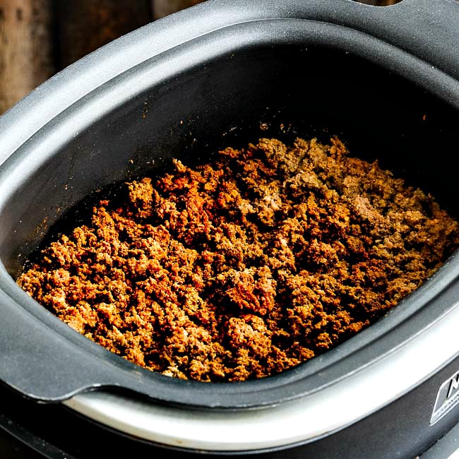 Slow Cooker Taco Meat in crockpot thumbnail photo