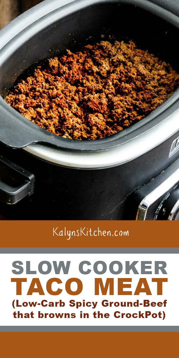 Pinterest image of Slow Cooker Taco Meat