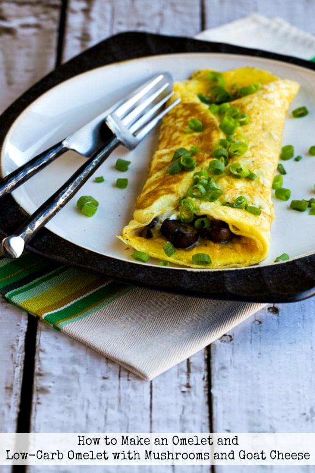 Top photo for Low-Carb Omelet with Mushrooms and Goat Cheese