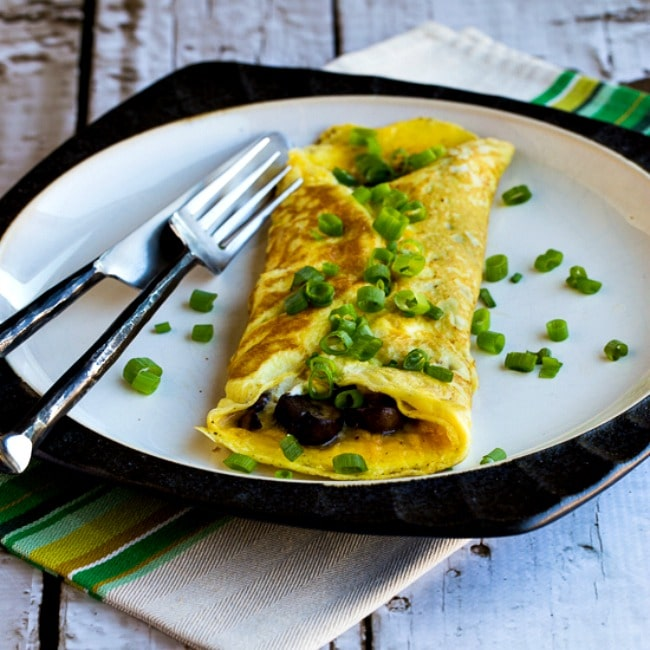Thumbnail photo Low-Carb Omelet with Mushrooms and Goat Cheese