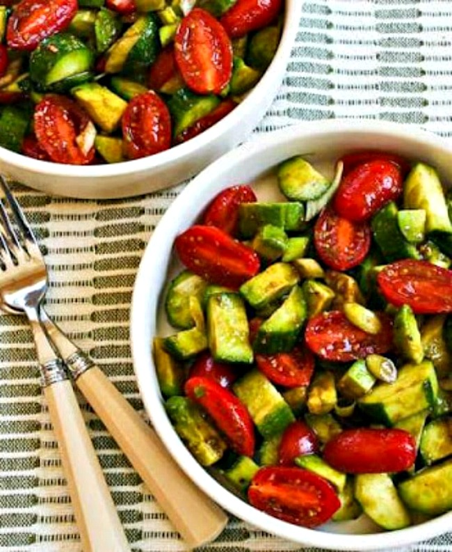 Not-so-Dumb Salad with Cucumber, Tomato, and Avocado top photo