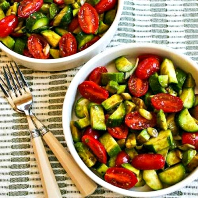 Not-so-Dumb Salad with Cucumber, Tomato, and Avocado square thumbnail image
