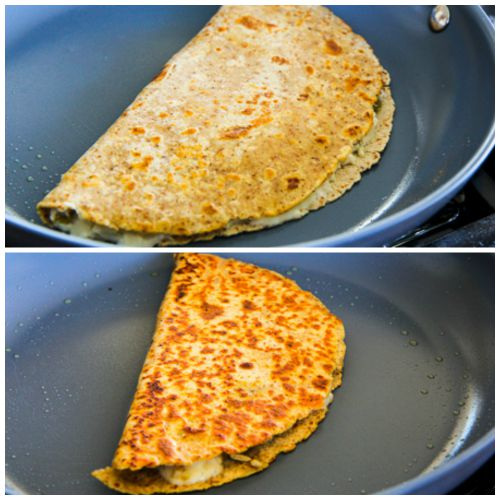 Low-Carb Green Chile Quesadillas with Turkey and Cheese found on KalynsKitchen.com.