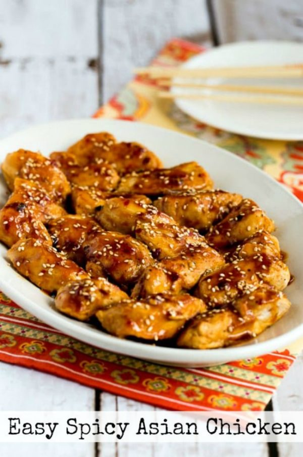 Easy Spicy Asian Chicken found on KalynsKitchen.com