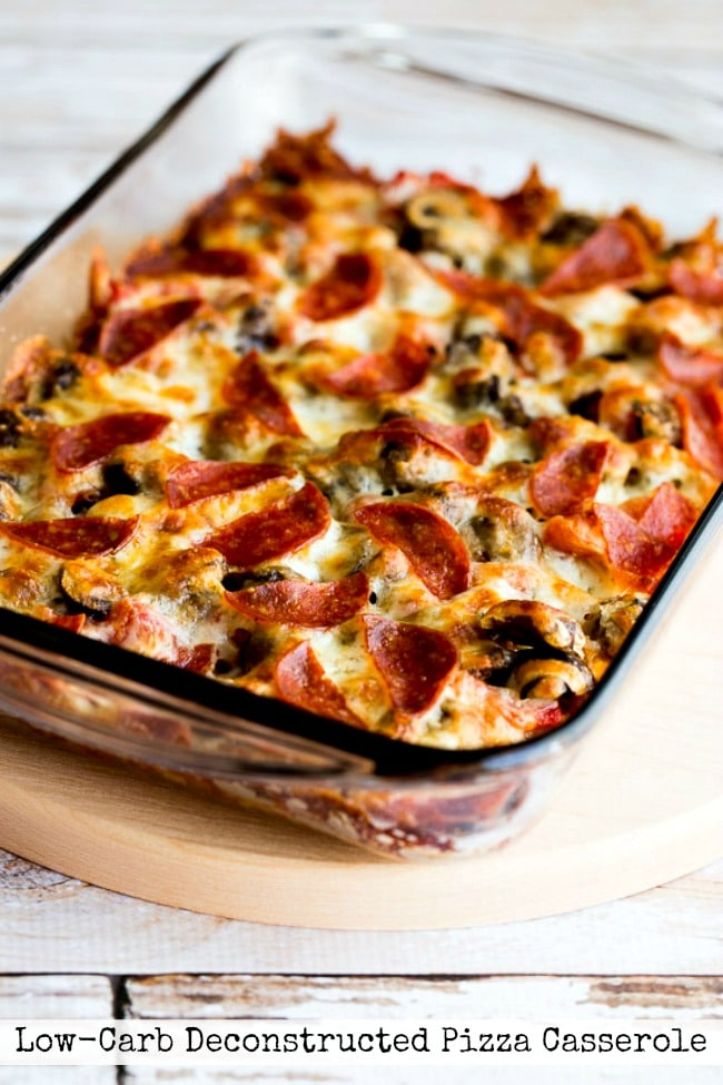 Title photo for Low-Carb Deconstructed Pizza Casserole