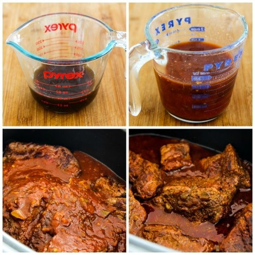 Low-Carb Southwestern Pot Roast in the Slow Cooker found on KalynsKitchen.com