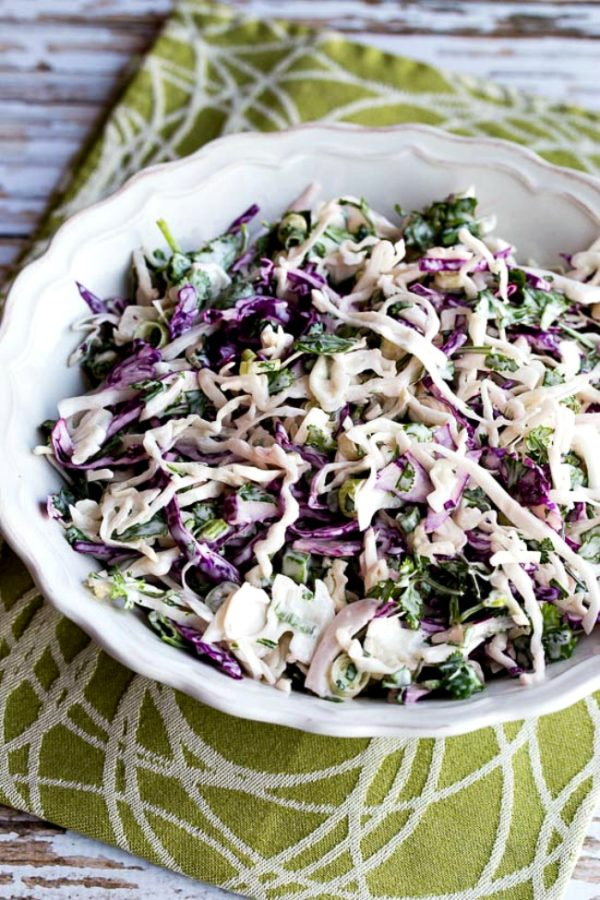 Low-Carb Spicy Mexican Slaw with Lime and Cilantro